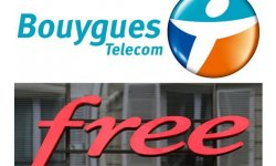 535026 les logos de bouygues telecom et free