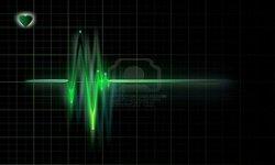 7721396 lectrocardiogramme graphique sur un fond sombre