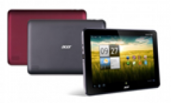 Acer ICONIA TAB A200 black and red combo vignette head