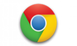 google chrome logo vignette head