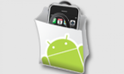 logo android market iphone vignette head