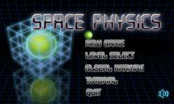 menu Space Physics menu principale
