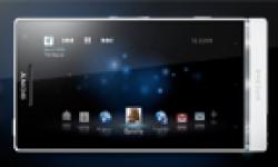sony xperia s white horizontal android smartphone vignette head