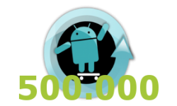 vignette cyanogen cyanogenmod Seven 7 logo record 500000