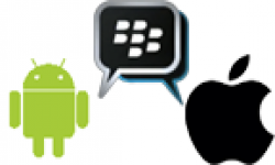 Vignette Icone Head Android Apple Blackberry Messenger Logo 30032011