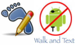 vignette icone head walk and text android pirate interdit