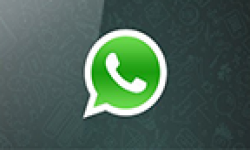 whatsapp logo vignette head